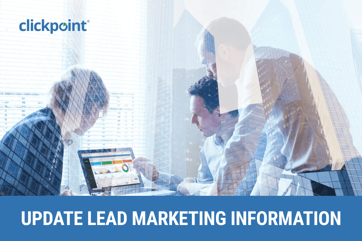 Update Marketing Information on an Existing Lead