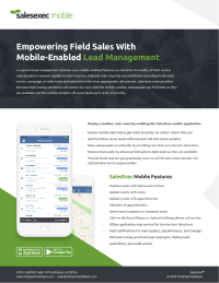 SalesExec lead management brochure