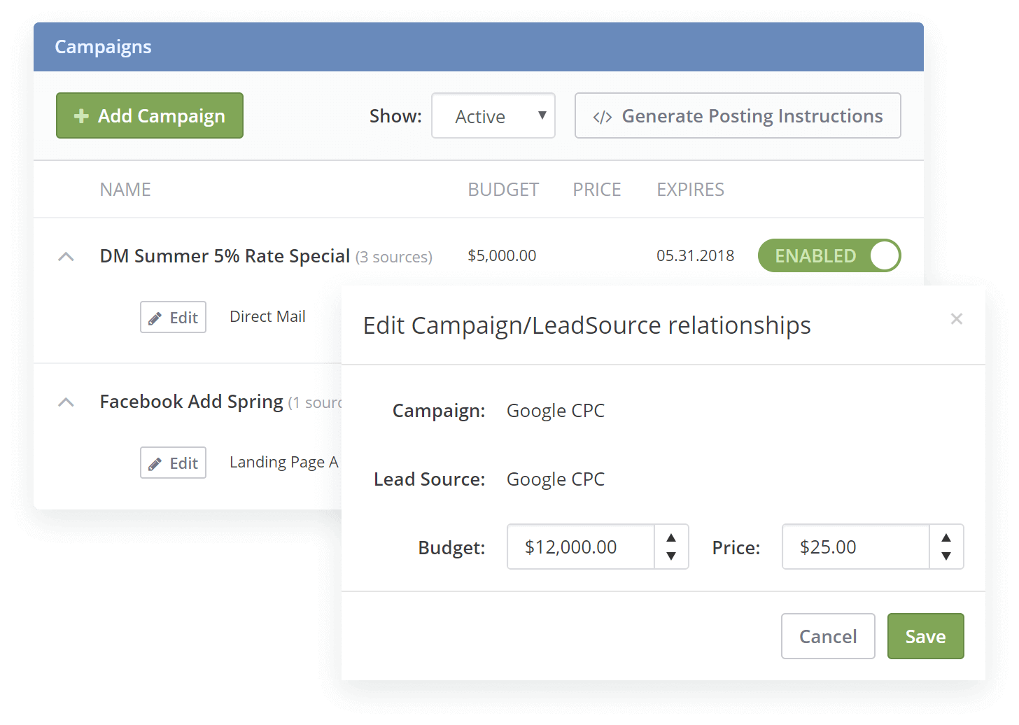 LendingTree, Zillow Lead Source Integrations