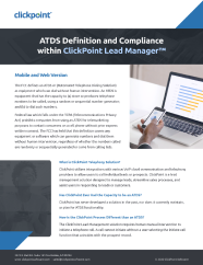 TCPA and ATDS Compliance Definitions